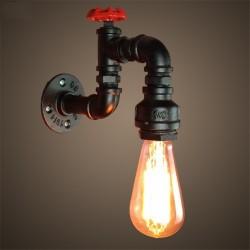 American industrial pipe - lámpara de pared de hierro