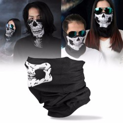 Masque facial imprimé crâne - cagoule