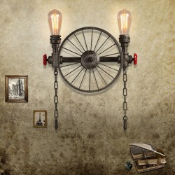 Żelazne koło - kinkiet retro