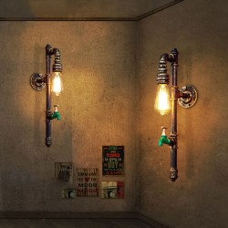 Vintage water pipe - wall lamp