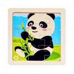 Drewniane puzzle 3D - zabawka edukacyjna 11 * 11 cm