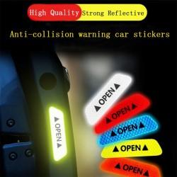 OPEN - Antikollisions-Warnaufkleber für Autotüren - reflektierend 4 Stück