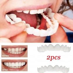 Silikonowa osłona zębów - proteza 2 sztuki