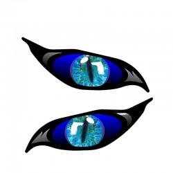 3D oczy zombie - winylowa naklejka na samochód 13 * 5 cm