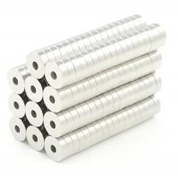 Magnes neodymowy N50 - mini okrągły pierścień 5 * 1,5 * 1,5 mm 50 sztuk