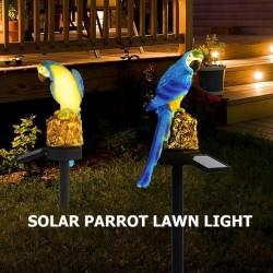 Papuga LED zasilana energią słoneczną - oświetlenie ogrodowe