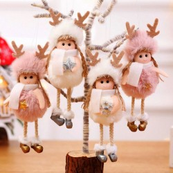 Silk & plush Christmas angels - dolls