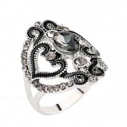 Carving pattern - hollow ring with crystals