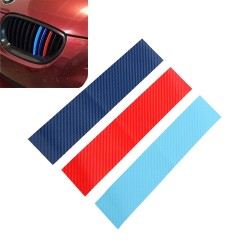 Fibra de carbono 3D para parrilla BMW - pegatina rayas 25 * 5cm