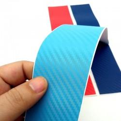 3D Carbon Fiber for BMW grill - stripes sticker 25 * 5cm