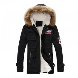 Zimowa kurtka z kapturem - ciepła - slim