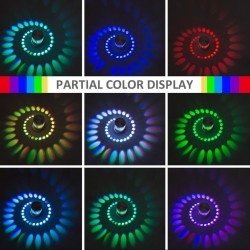LED wall light with spiral hole - RGB - remote controller