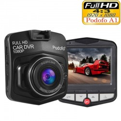 Podofo A1 mini cámara DVR dashcam - full HD 1080P - grabadora de video - sensor G - visión nocturna