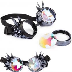 Steampunk & gothic gogle - vintage okulary przeciwsłoneczne