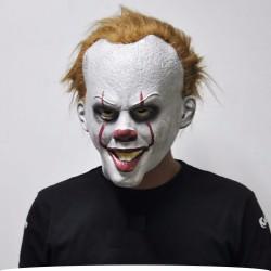 Halloweenowa maska klauna z lateksu