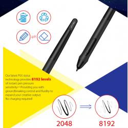 XP-Pen Deco 03 - graphics drawing tablet with stylus pen - wireless digital