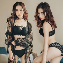 Sexy bra & panties - push up - lace set