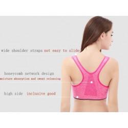 Professional fitness bra - vest with push up & zipper