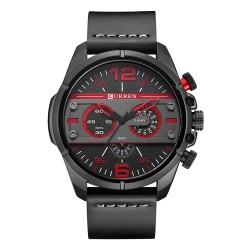 Luksusowy skórzany sportowy zegarek kwarcowy