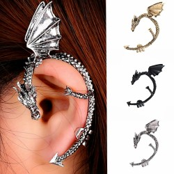Gothic & punk earring with dragon