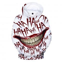 Bluza z kapturem z nadrukiem 3D joker