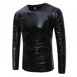 Shiny metallic t-shirt - long sleeve