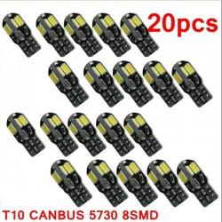 T10 12V Canbus LED ampoule intérieure de voiture - 20 pièces
