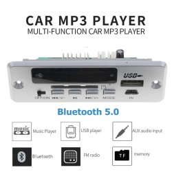 1 Din V 12V - USB 3.5mm AUX 5.0 Bluetooth car radio - MP3 player - decoding board