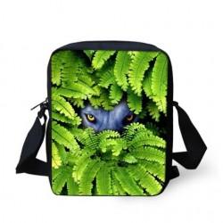 Zwierzęta w liściach - mała torebka crossbody