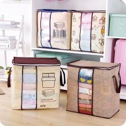 Przenośna torba do przechowywania odzieży z włókniny - składany organizer