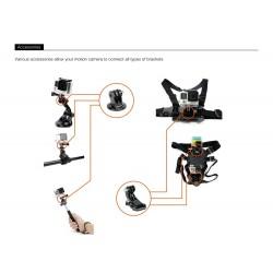 Octopus tripod - chest band mount for GoPro Hero 7 6 5 EKEN H9 Xiaomi Yi 4KGS65