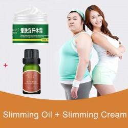 Odchudzający olejek eteryczny - modelowanie sylwetki - spalanie tłuszczu - olejek i krem do masażu antycellulitowego