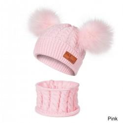 Dziecięca wełniana czapka i szalik - komplet 2 sztuki