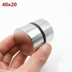 N35 N52 magnes neodymowy - mocny okrągły metalowy magnes 40 * 20 mm 2 sztuki
