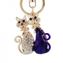 Crystal cats - keychain