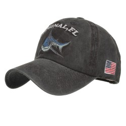 Vintage original Shark - embroidery cotton baseball cap - unisex