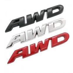 3D 4WD - naklejka na samochód - chrom