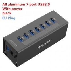 Orico A3H7 A3H10 A3H4 - aluminiowy szybki rozdzielacz - 7 portów - USB 3.0