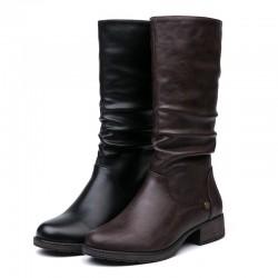 Zimowe - ciepłe buty do połowy łydki