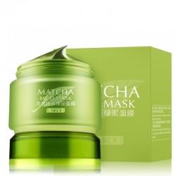 Organiczna zielona herbata - błotna maska na twarz - leczenie trądziku - usuwanie zaskórników