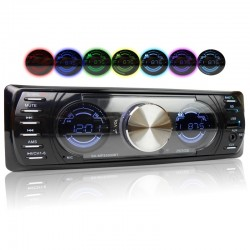 Bluetooth car radio - stereo audio - MP3 - USB - dubbel LCD screen