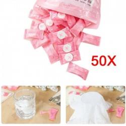 Serviette de voyage comprimée - coton 50 pièces