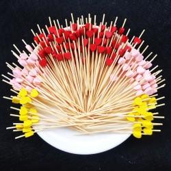 Dekoracyjne patyczki bambusowe do szaszłyków koktajlowych 12 cm 100 sztuk