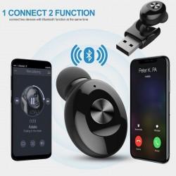 Mini Bluetooth 5.0 słuchawki - bezprzewodowa słuchawka z ładowaniem przez USB