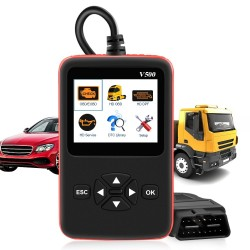 Skaner OBD2 do samochodów i ciężarówek - czytnik kodów V500 HD - podwójnego zastosowania - narzędzie diagnostyczne