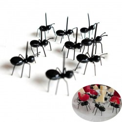 Horquillas en forma de hormiga para frutas y aperitivos - postres 12 piezas