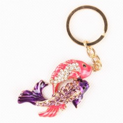 Kryształowa para ryb - brelok do kluczy