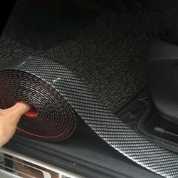 Naklejka samochodowa 5D - ochrona listwy progowej z włókna węglowego