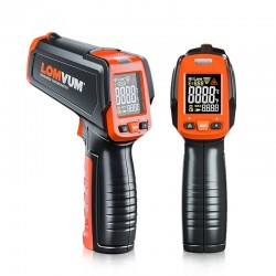 Digital infrared thermometer - non contact handheld gun laser with LCD display