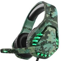 Zestaw słuchawkowy do gier 3,5 mm - słuchawki z mikrofonem & LED